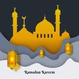 Σχέδιο προτύπων υποβάθρου Ramadan kareem διανυσματική απεικόνιση