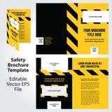 Σχέδιο προτύπων φυλλάδιων θέματος ασφάλειας Στοκ εικόνα με δικαίωμα ελεύθερης χρήσης
