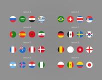 Σχέδιο πρωταθλημάτων ποδοσφαίρου Ποδόσφαιρο infographic Στοκ εικόνες με δικαίωμα ελεύθερης χρήσης