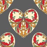 Σχέδιο πόκερ καρδιών Στοκ Εικόνες