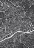 Σχέδιο πόλεων της Φρανκφούρτης Αμ Μάιν, λεπτομερής διανυσματικός χάρτης διανυσματική απεικόνιση