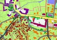 σχέδιο πόλεων Στοκ εικόνα με δικαίωμα ελεύθερης χρήσης