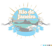Σχέδιο Ρίο ντε Τζανέιρο Στοκ εικόνες με δικαίωμα ελεύθερης χρήσης