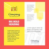 Σχέδιο σελίδων τίτλου φυλλάδιων επιχείρησης γραφικών παραστάσεων Σχεδιάγραμμα επιχείρησης, ετήσια έκθεση, παρουσιάσεις, διανυσματ ελεύθερη απεικόνιση δικαιώματος