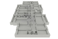 σχέδιο σπιτιών πατωμάτων ελεύθερη απεικόνιση δικαιώματος