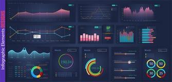 Σχέδιο στοιχείων ανάλυσης Ιστού Infographic Ετήσιες γραφικές παραστάσεις στατιστικών σχεδίου τέχνης Αφηρημένη έννοια γραφικό UI,  απεικόνιση αποθεμάτων