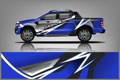 Σχέδιο στολών περικαλυμμάτων φορτηγών Έτοιμο σχέδιο περικαλυμμάτων τυπωμένων υλών για το φορτηγό o διανυσματική απεικόνιση