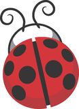 σχέδιο συνδετήρων τέχνης ladybug στοκ εικόνες