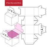 Σχέδιο συσκευασίας Διανυσματική απεικόνιση του κιβωτίου διανυσματική απεικόνιση