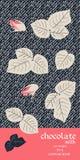 Σχέδιο συσκευασίας φραγμών σοκολάτας με τα φύλλα και τους οφθαλμούς των τριαντάφυλλων στο σκοτεινό τυποποιημένο υπόβαθρο τζιν Όμο απεικόνιση αποθεμάτων