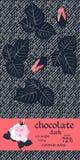 Σχέδιο συσκευασίας φραγμών σοκολάτας με τα φύλλα και τους οφθαλμούς των τριαντάφυλλων στο σκοτεινό τυποποιημένο υπόβαθρο τζιν Εύκ διανυσματική απεικόνιση