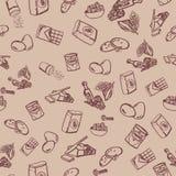 Σχέδιο συστατικών μπισκότων σοκολάτας στο μπεζ υπόβαθρο Στοκ εικόνα με δικαίωμα ελεύθερης χρήσης