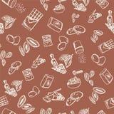 Σχέδιο συστατικών μπισκότων στο καφετί υπόβαθρο με τα βερίκοκα και τα αμύγδαλα Στοκ φωτογραφία με δικαίωμα ελεύθερης χρήσης
