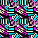 Σχέδιο σχεδίων επιφάνειας, άνευ ραφής τέχνη χεριών γκράφιτι εκφραστική Στοκ Εικόνες