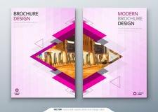 Σχέδιο σχεδιαγράμματος προτύπων φυλλάδιων Εταιρική επιχειρησιακή ετήσια έκθεση, κατάλογος, περιοδικό, πρότυπο ιπτάμενων Δημιουργι απεικόνιση αποθεμάτων