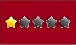 Σχέδιο της κλίμακας εκτίμησης με τα κίτρινα και γκρίζα αστέρια Στοκ Φωτογραφίες