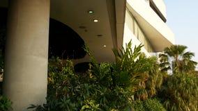 Σχέδιο της λεωφόρου στην πράσινη φιλική προς το περιβάλλον έννοια Υπαίθριος κρεμώντας κήπος στα πεζούλια Φουτουριστικό eco απόθεμα βίντεο