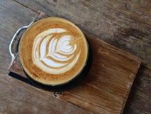 Σχέδιο της Νίκαιας της καυτής τέχνης καφέ latte στοκ φωτογραφίες