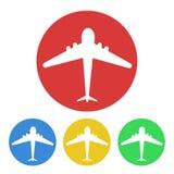 Σχέδιο τουρισμού κουμπιών αεροπλάνων, διανυσματική απεικόνιση αποθεμάτων ελεύθερη απεικόνιση δικαιώματος