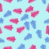 Σχέδιο του floral μοτίβου, κλάδοι, doodles, άνευ ραφής σύρετε το έγγραφο χεριών watercolours Στοκ εικόνα με δικαίωμα ελεύθερης χρήσης