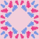 Σχέδιο του floral μοτίβου, κλάδοι, doodles, διάστημα αντιγράφων Χέρι δραχμές Στοκ Εικόνα