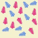 Σχέδιο του floral μοτίβου, κλάδοι, doodles συρμένο χέρι Στοκ φωτογραφία με δικαίωμα ελεύθερης χρήσης