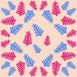 Σχέδιο του floral μοτίβου, κλάδοι, doodles συρμένο χέρι Στοκ εικόνα με δικαίωμα ελεύθερης χρήσης