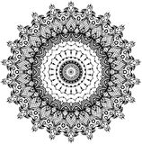 Σχέδιο του floral στρογγυλού mandala δαντελλών Στοκ Φωτογραφίες