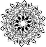 Σχέδιο του floral στρογγυλού mandala δαντελλών Στοκ εικόνες με δικαίωμα ελεύθερης χρήσης