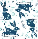 Σχέδιο του Paisley κουνελιών λαγουδάκι Στοκ Εικόνες