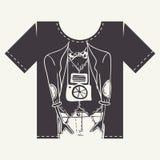 Σχέδιο τυπωμένων υλών μπλουζών Στοκ φωτογραφία με δικαίωμα ελεύθερης χρήσης