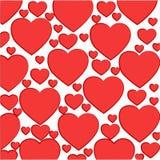 Σχέδιο των ανοικτό κόκκινο καρδιών Στοκ φωτογραφία με δικαίωμα ελεύθερης χρήσης