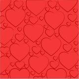 Σχέδιο των ανοικτό κόκκινο καρδιών Στοκ Εικόνα