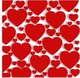 Σχέδιο των κόκκινων καρδιών Στοκ εικόνα με δικαίωμα ελεύθερης χρήσης