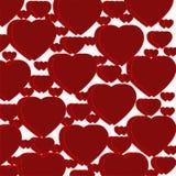 Σχέδιο των σκούρο κόκκινο καρδιών Στοκ Εικόνες