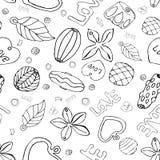 Σχέδιο των χαντρών και των αλυσίδων Μοντέρνη ευχετήρια κάρτα με τις χάντρες διανυσματική απεικόνιση