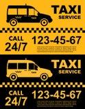 Σχέδιο υπηρεσιών ταξί πέρα από το κίτρινο και μαύρο υπόβαθρο Σκιαγραφία του αυτοκινήτου Διανυσματική επίπεδη απεικόνιση Έμβλημα,  Στοκ φωτογραφίες με δικαίωμα ελεύθερης χρήσης