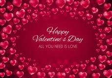 Σχέδιο υποβάθρου αγάπης και συναισθημάτων καρδιών ημέρας βαλεντίνων ` s επίσης corel σύρετε το διάνυσμα απεικόνισης Στοκ Εικόνες