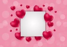 Σχέδιο υποβάθρου αγάπης και συναισθημάτων καρδιών ημέρας βαλεντίνων ` s επίσης corel σύρετε το διάνυσμα απεικόνισης Στοκ εικόνα με δικαίωμα ελεύθερης χρήσης