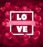 Σχέδιο υποβάθρου αγάπης και συναισθημάτων καρδιών ημέρας βαλεντίνων ` s επίσης corel σύρετε το διάνυσμα απεικόνισης Στοκ εικόνες με δικαίωμα ελεύθερης χρήσης