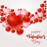 Σχέδιο υποβάθρου αγάπης και συναισθημάτων καρδιών ημέρας βαλεντίνων s επίσης corel σύρετε το διάνυσμα απεικόνισης Στοκ Φωτογραφία
