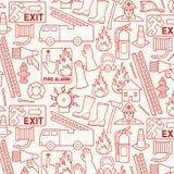 Σχέδιο υποβάθρου με τα εικονίδια πυροσβεστών διανυσματική απεικόνιση