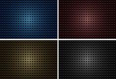 Σχέδιο υποβάθρου με τα μεταλλικά πιάτα με τις τρύπες σε τέσσερα χρώματα απεικόνιση αποθεμάτων