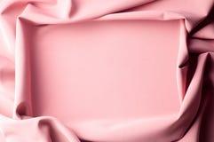 Σχέδιο υποβάθρου σύστασης ρόδινο μετάξι υφάσματος Εκλεκτής ποιότητας γαλλικά SEM Στοκ Φωτογραφία