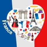Σχέδιο υποβάθρου της Γαλλίας Στοκ Φωτογραφίες