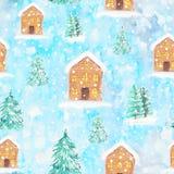 Σχέδιο υποβάθρου Χριστουγέννων κρητιδογραφιών διανυσματική απεικόνιση