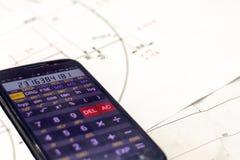 Σχέδιο υπολογισμού επιχειρησιακών στοιχείων στοκ εικόνα με δικαίωμα ελεύθερης χρήσης