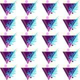 Σχέδιο φιαγμένο από τρίγωνα και φτέρη Στοκ εικόνα με δικαίωμα ελεύθερης χρήσης