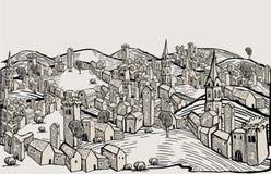 σχέδιο Φλωρεντία πόλεων Στοκ Φωτογραφίες