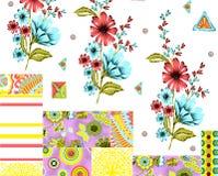 Σχέδιο φραγμών με floral και το σχέδιο Στοκ φωτογραφία με δικαίωμα ελεύθερης χρήσης
